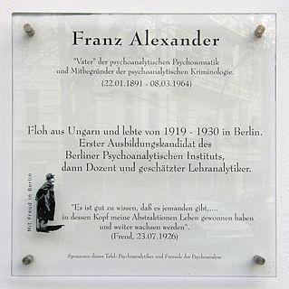 Franz Alexander American Hungarian-born psychoanalyst