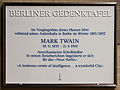 Gedenktafel Körnerstr 7 (Tierg) Mark Twain.jpg