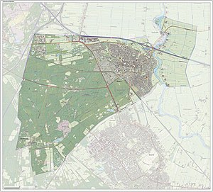 Baarn - Topographic map of Baarn, June 2015