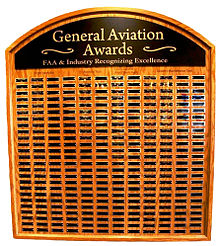 General Aviation Awards plaque at EAA Museum in Oshkosh, WI.jpg