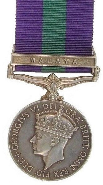 General Service Medal (1918) - Image: General Service Medal, Army & RAF, Obverse