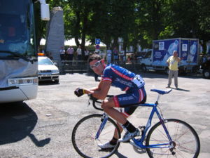 George Hincapie - Hincapie at Saint-Flour during the 2004 Tour de France.