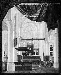 Interior of Sint Gertrudiskerk in Bergen op Zoom