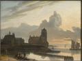 German River Landscape with a Town (Gerrit Adriaensz Berckheyde) - Nationalmuseum - 18178.tif