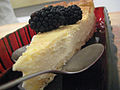 German cheesecake with blackberries @ dynamic dish.jpg