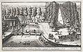 Gezicht op de Maliebaan te Utrecht 't vermakelyck gesicht van de Maliebaen 't Utrecht Alwaar De Vreede Tusschen De koningen van Spangien en Portugal Geteekent is (titel op object), RP-P-1959-607.jpg