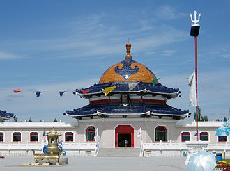 Mongolian shamanism - Main hall of the Shrine of the Lord Genghis Khan, in Ordos City.