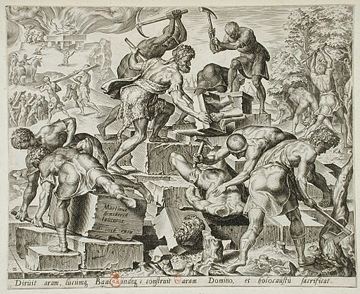 Gideon and His Men Destroying the Altar of Baal LACMA M.88.91.429b