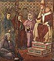 Giotto di Bondone - Legend of St Francis - 17. St Francis Preaching before Honorius III (detail) - WGA09142.jpg