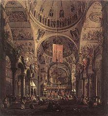 Venise: l'intérieur de San Marco le jour