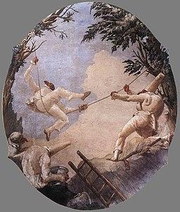 Giovanni Domenico Tiepolo - The Swing of Pulcinella - WGA22397