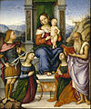 Girolamo Marchesi - The Virgin and Child Enthroned with Saints Michael, Catherine of Alexandria, Cecilia, and Jerome - Google Art Project.jpg