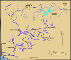 Australia Map Rivers.Wannon River Wikipedia