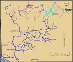 glenelg river vic australia mappng