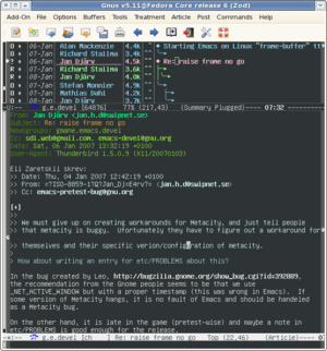 Gnus 5.11 under GNU Emacs and Fedora