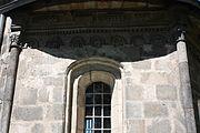 Gościszów Kościół Matki Bożej Częstochowskiej fryz z dekoracja figuralna 02.JPG