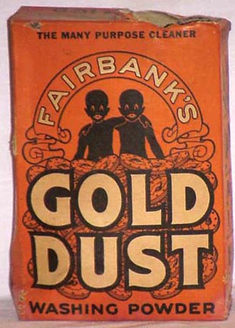 """Gold Dust Twins - A box of Gold Dust Washing Soap featuring the iconic """"Gold Dust Twins"""", 'Goldie' and 'Dustie'"""