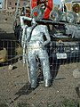 "Goldfield, NV, The Former Sculpture and Art Car Exhibit, ""Beer Man""Aluminum by Svein ""Slim"" Sirnes 1930-2006, Art Cars by ""Rocket Bob"", 2006 - panoramio.jpg"