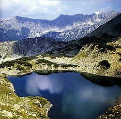 View of the Pirin National Park.