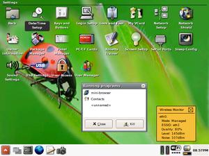 GPE Palmtop Environment - GPE on a Sharp Zaurus C1000