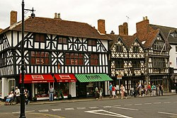 Grade II* timber framed building on High Street, Stratford-upon-Avon, Warwickshire.jpg
