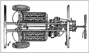 Graiseley Electric Vehicles - A diagram of the Graiseley 3-wheeled pedestrian controlled battery-electric chassis dating from around 1938. The diagram was part of the application for patent no. 504604.