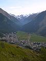 Gran Paradiso visto da Gimillian e panorama di Cogne.jpg