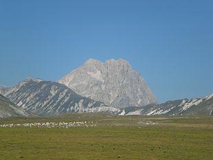 Corno Grande da Campo Imperatore, nel parco nazionale del Gran Sasso e Monti della Laga.