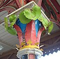 Great Malvern station in Worcestershire ... decorated pillar. (3342467902).jpg