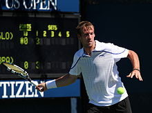 Grega Žemlja at the 2012 US Open 1.jpg