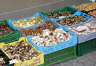 Edible mushroom - Edible mushrooms on sale in Warsaw