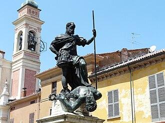Ferrante Gonzaga - The Triumph of Ferrante Gonzaga over Envy by Leone Leoni, Guastalla, Italy.