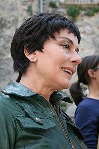 Monica Guerritore sul set di Fuga con Marlene (2007)