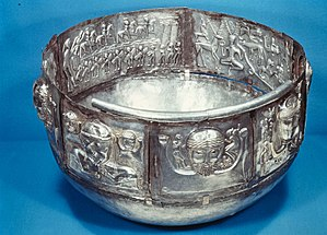 History of Denmark - The silver Gundestrup Cauldron, with what some scholars interpret as Celtic depictions, exemplifies the trade relations of the period.