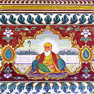 Goindval - Image: Guru Nanak Fresco Goindwal