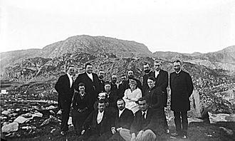 Gustav Frederik Holm - Gustav Holm (back row, third from left) at Qaqortoq, Greenland, in 1894, when he was captain of the steamer Hvidbjørnen
