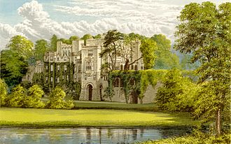 Guy's Cliffe - The manor house at Guy's Cliffe, circa 1880