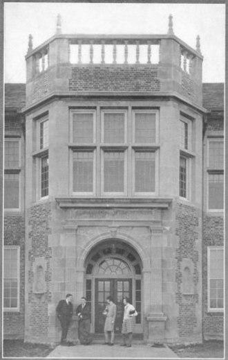 David H. Hickman High School - The original entrance to the High chool in 1928.