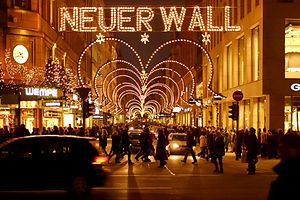 Neuer Wall - Neuer Wall during Christmas season, seen from Jungfernstieg