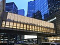HK Central evening Chater Road Giorgio Armani Chater House footbridge Dec-2012.JPG