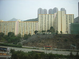 Lai King Estate, one of many housing structures