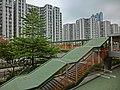 HK Hung Hom Harbour Place view footbridge n Whampoa Garden Mar-2013.JPG