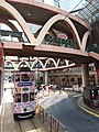 HK Tram tour view Causeway Bay 怡和街 Yee Wo Street round ring footbridge August 2018 SSG 03.jpg