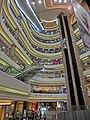 HK night 銅鑼灣 mall 香港時代廣場 Times Square void lift interior Causeway Bay Mar-2013.JPG