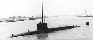 Resolution-class submarine - Image: HMS Resolution (S22) in 1977