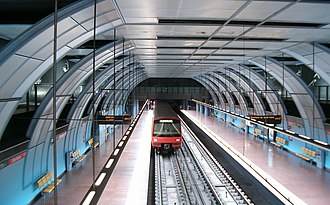 The Lisbon Metro is Portugal's oldest and largest subway system. HPIM0530 (cropped).JPG