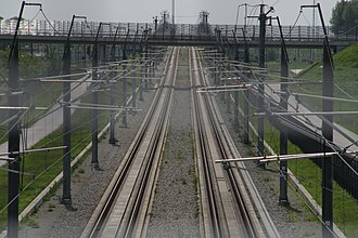 HSL-Zuid - Tracks near Lage Zwaluwe