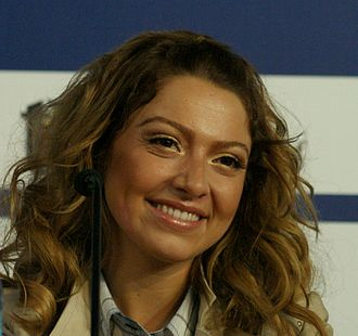 Hadise - Hadise at a press conference for Eurovision Song Contest 2009 in Moscow