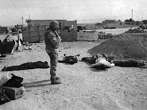 Haditha massacre - Several victims lying on the ground