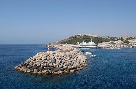 "Port of Mġarr (Gozo), ""entrance to Gozo""."